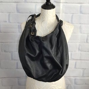 DKNY Black Leather Hobo